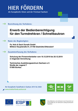 Bedienberechtigung Turmdrehkran/Schnellbaukran